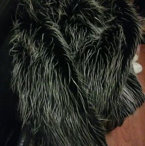 bebe Jackets & Coats - Black & White Bebe Fake Fur Women's Coat